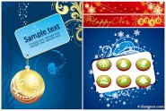 4 under Christmas vector material