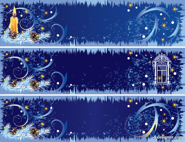 Beautiful Christmas decorative banner vector material