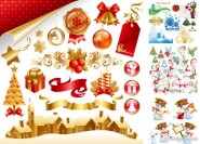 Beautifully belated Christmas material vector material
