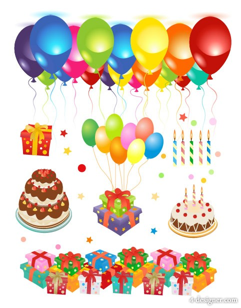 Birthday festive vector material