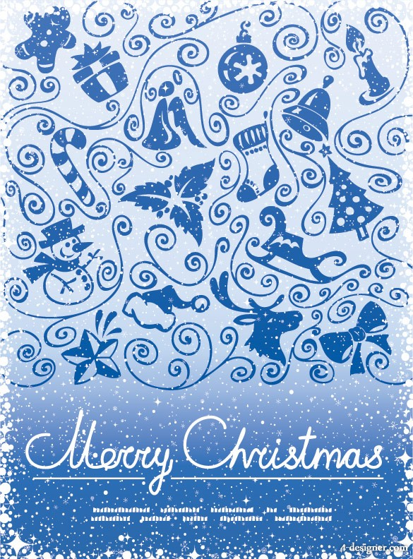 Christmas decorative pattern vector material