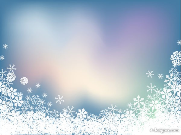 Snowflake Symphony background vector material