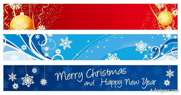 Vector beautiful Christmas banner banner vector material