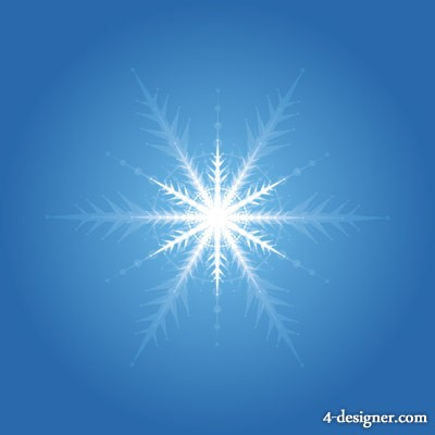 Vector glowing snowflakes