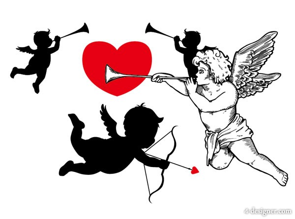 Vector material Cupid