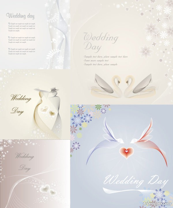 Wedding template vector material