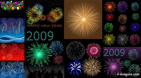 10 paragraph fireworks vector material