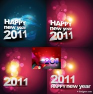 2011 Happy New Year background Vector