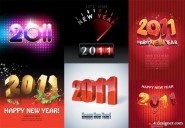 2011 creative font vector material