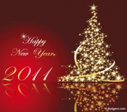 2011 the glittering Christmas tree vector material