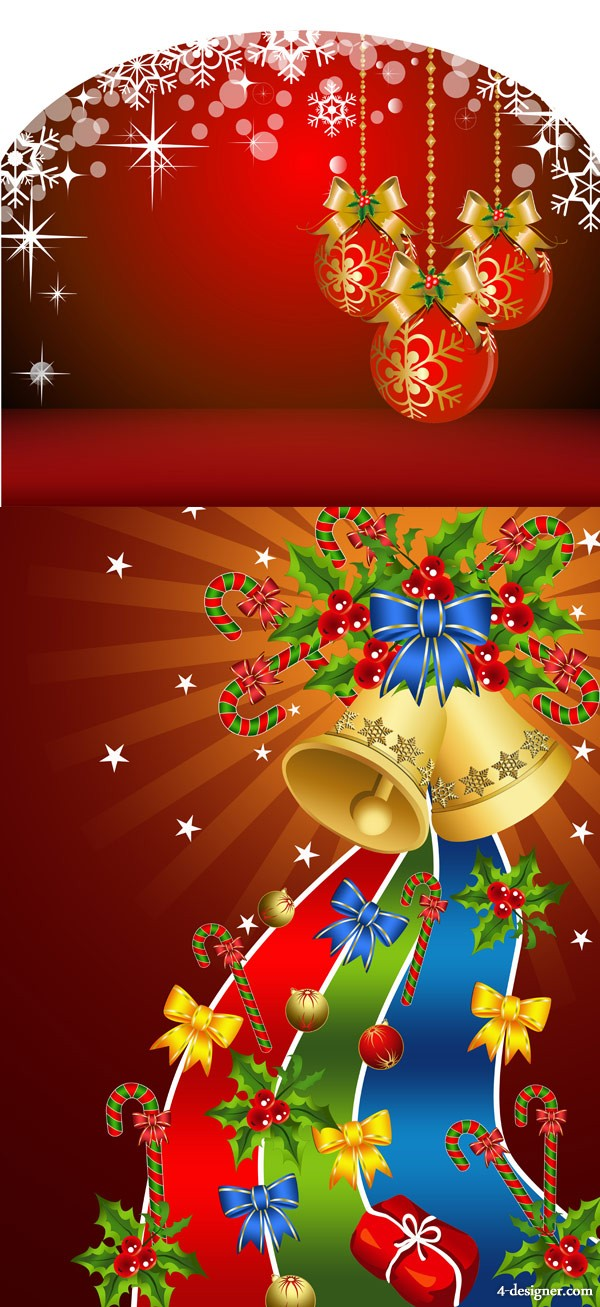 Background with Christmas tree ornament   Vector