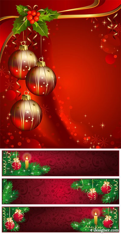 Beautiful Christmas background vector material