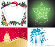 Christmas background   Vector material