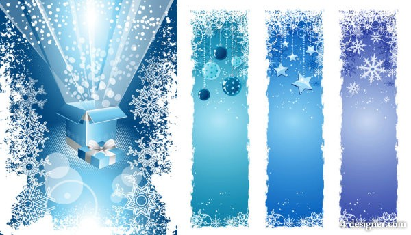 Christmas snowflake decoration vector material