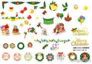 Christmas the material vector clip   Christmas decoration items album
