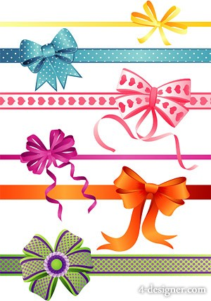 Cute bow element vector material