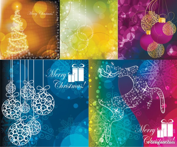 Dream Christmas background vector material