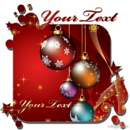 Exquisite Christmas card Vector   Vector material