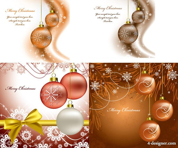 Hand painted beautiful Christmas background   Vector material
