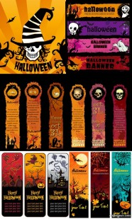 The Halloween Banner elements of vector material