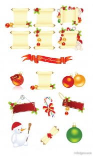 Christmas decorative elements vector material