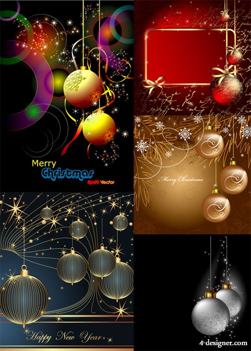 Christmas hanging ball Vector