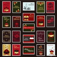 Christmas stamps Vector