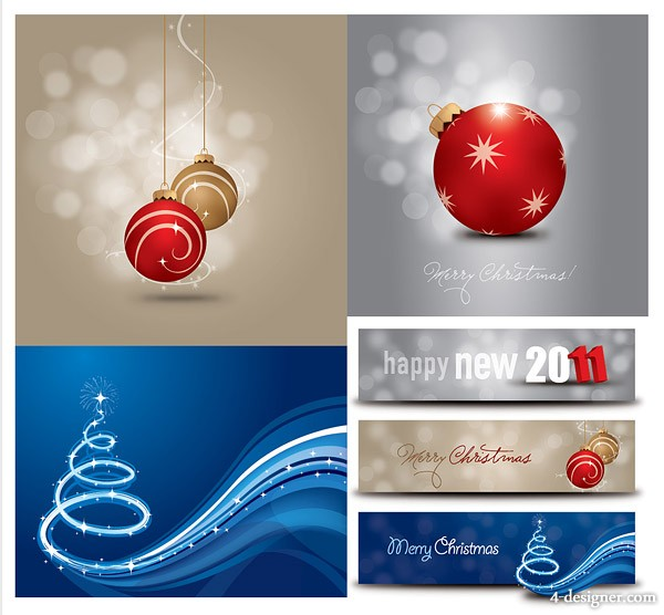 Christmas vector material 2011