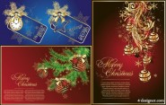 Gorgeous Christmas vector material