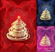 Tornado style Christmas tree vector material