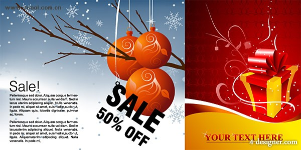 Winter discount sales and patterns gift Vector