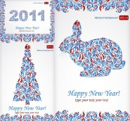 2011 special pattern Christmas and Happy New Year vector material