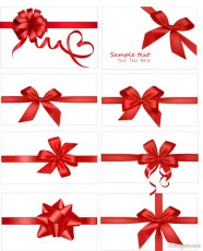 festive gift butterfly knot vector material
