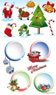 2 sets of Christmas vector material