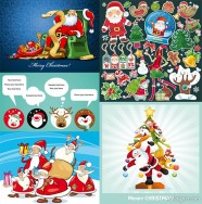 The several lovely Christmas theme vector material