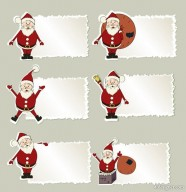 Christmas elements labeled stickers 03   Vector