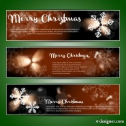 Christmas banner vector material 01   vector material