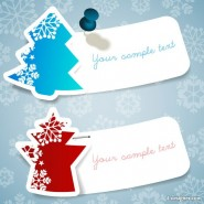 Christmas snowflake marked stickers   Vector