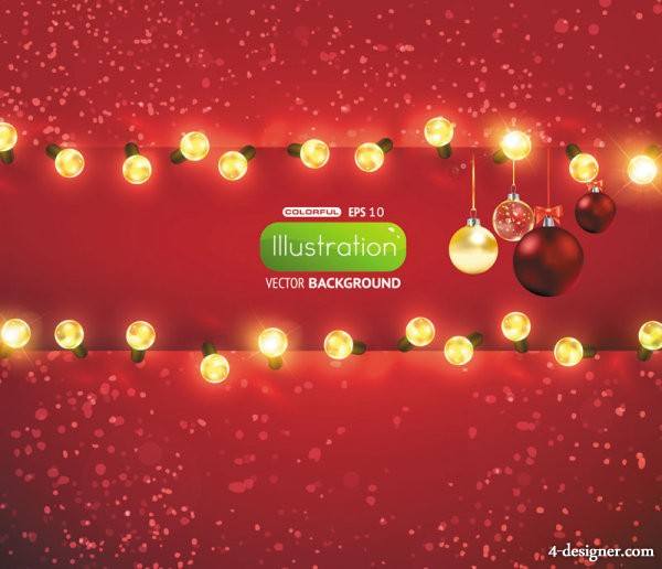 bright Christmas lights background Vector 01   Vector bright; starlight; lighting; lights; ball; lob; background;