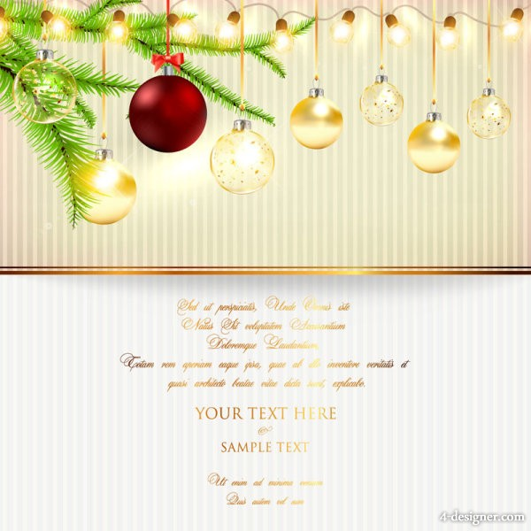 bright Christmas lights background 02   vector material