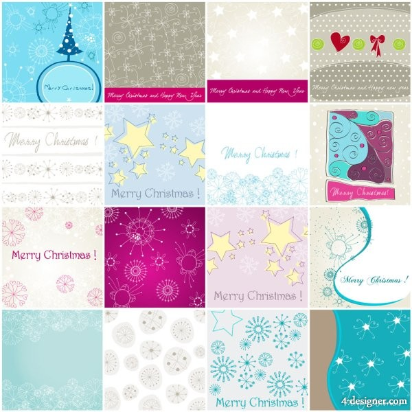 Christmas pattern of the elements of material 02   Vector