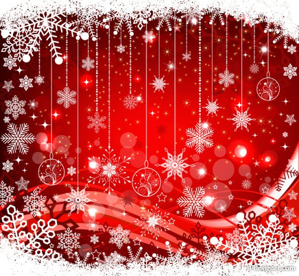 the exquisite Christmas ball background 05   vector material