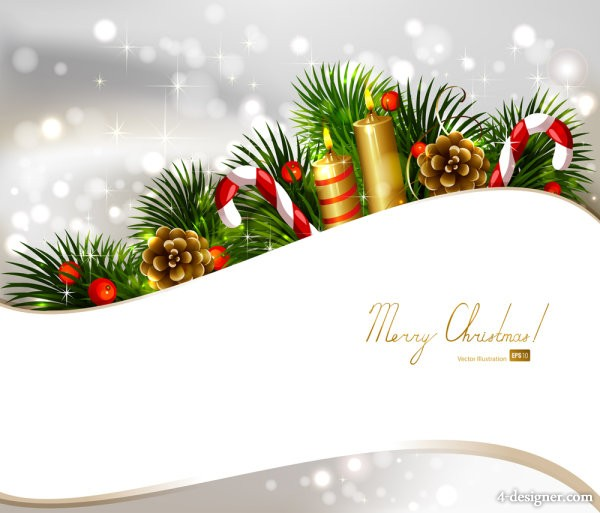 Christmas decoration Christmas background 03   vector material