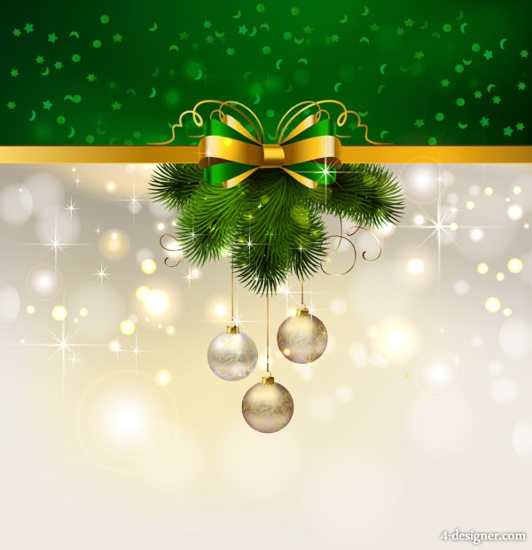 Christmas decoration background 04   vector material