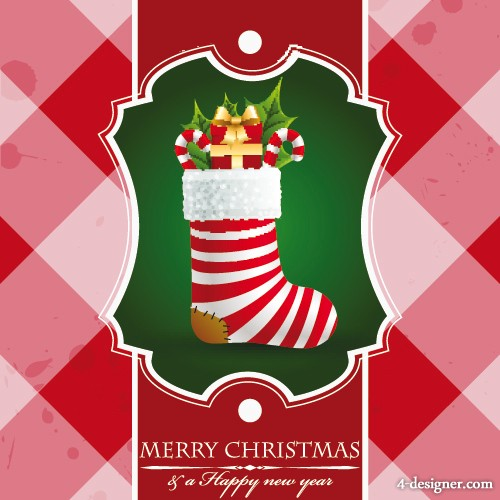 beautiful Christmas background vector material 01   Vector