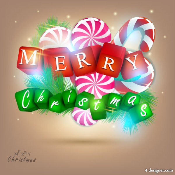 gorgeous Christmas elements background 01   vector material