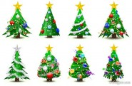 gorgeous Christmas tree Vector   Vector
