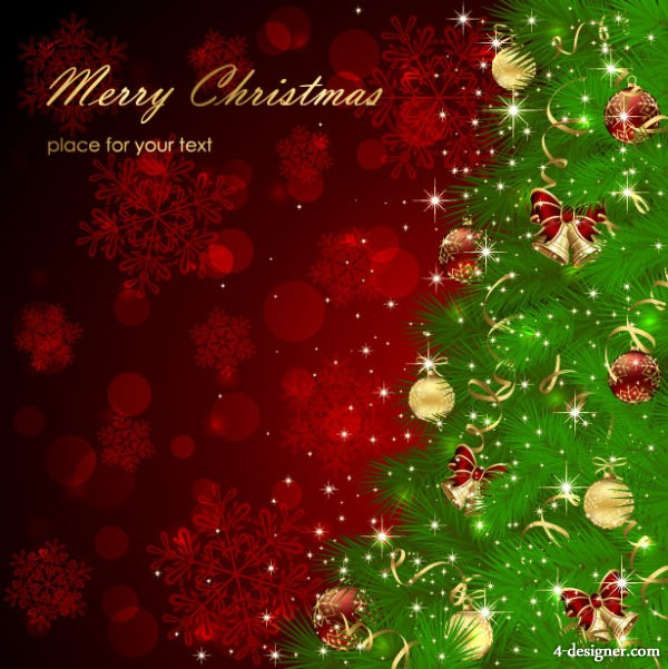 Beautiful Christmas greeting card background 01   vector material