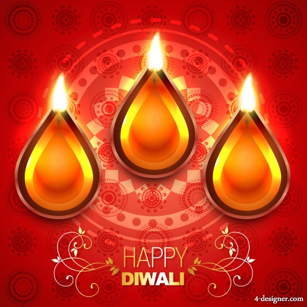 Beautiful Diwali theme background   vector material