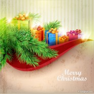 Exquisite Christmas background Vector 01   Vector